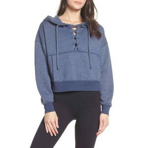Free People FP Movement Believer Hoodie S Lace Up